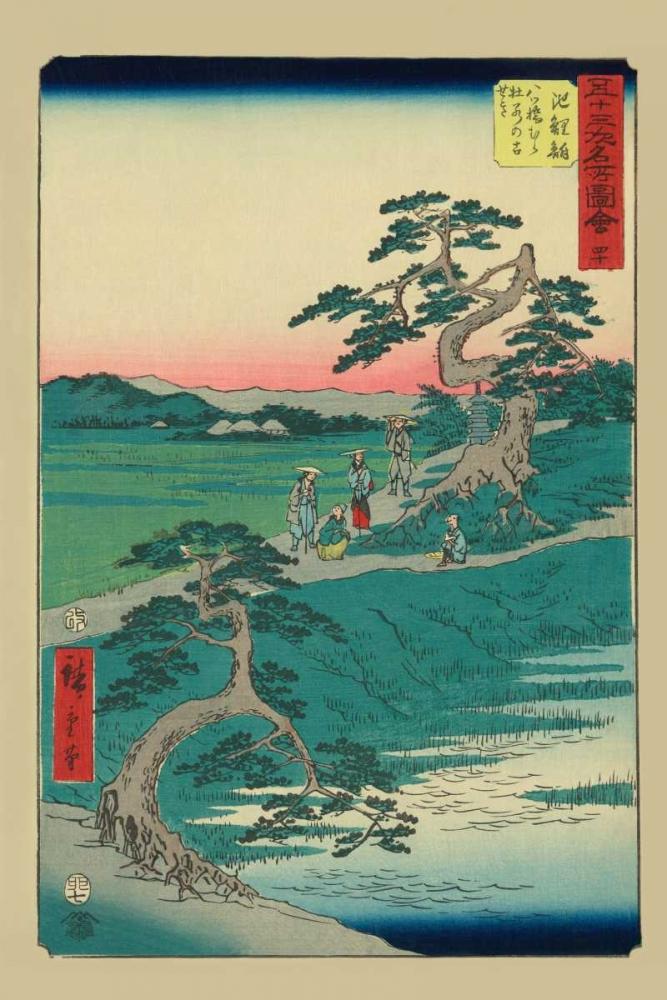 Chiryu, 1855 von Hiroshige, Ando <br> max. 33 x 51cm <br> Preis: ab 10€