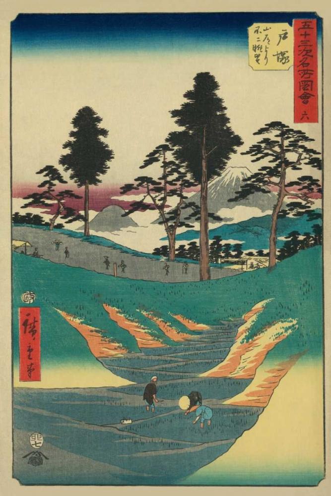 Totsuka, 1855 von Hiroshige, Ando <br> max. 33 x 51cm <br> Preis: ab 10€