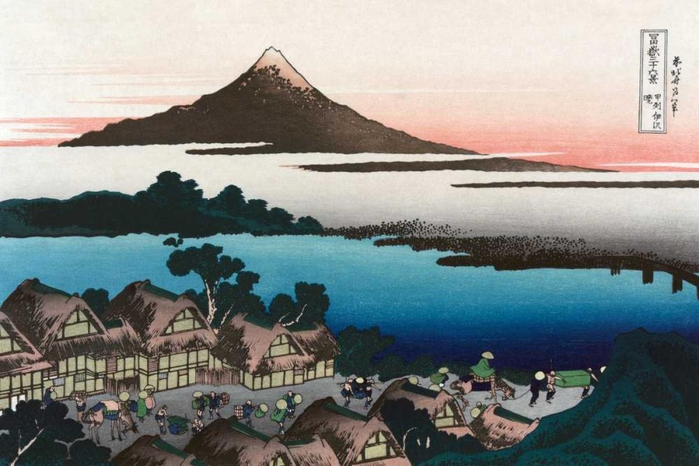 konfigurieren des Kunstdrucks in Wunschgröße Dawn at Isawa in Kai Province, 1830 von Hokusai