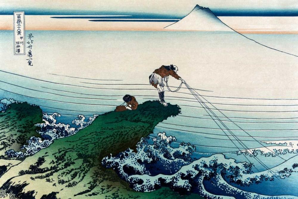 konfigurieren des Kunstdrucks in Wunschgröße Kajikazawa in Kai Province, 1830 von Hokusai