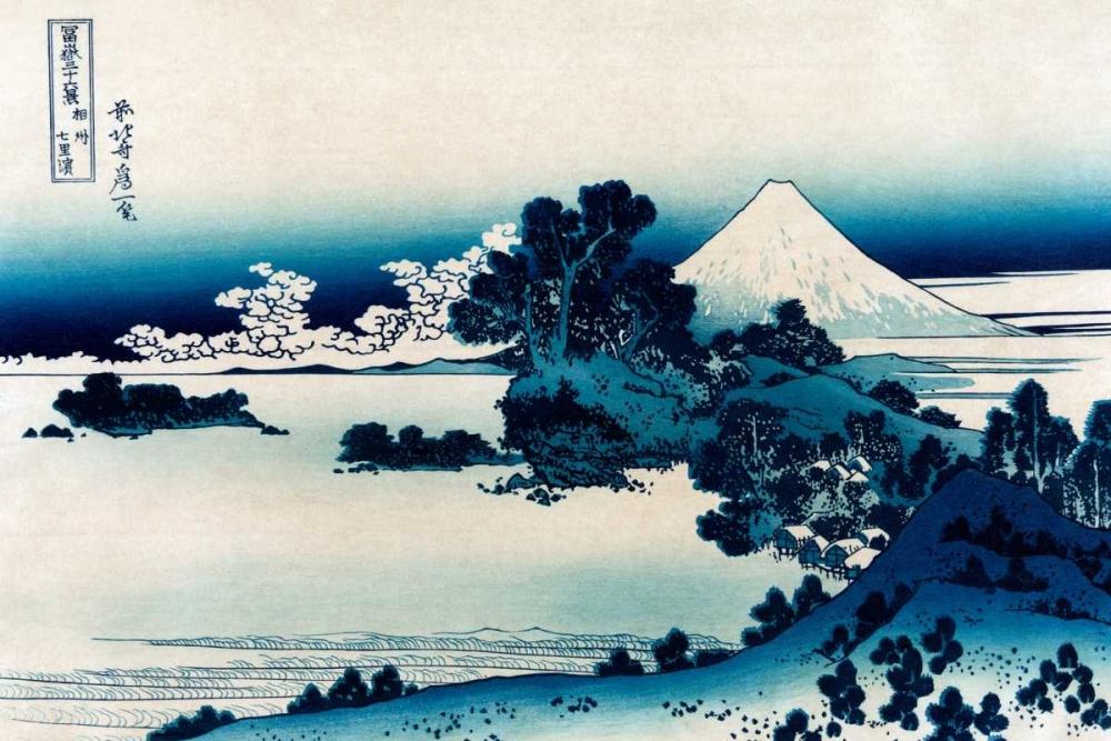 konfigurieren des Kunstdrucks in Wunschgröße Schichiri Beach in Sagami Province, 1830 von Hokusai