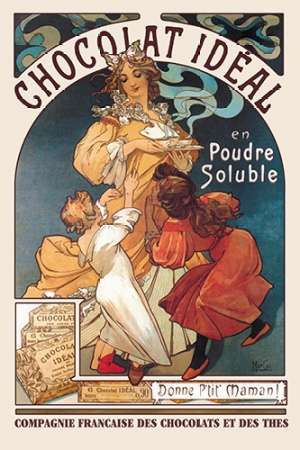 konfigurieren des Kunstdrucks in Wunschgröße Chocolat Ideal, 1897 von Mucha, Alphonse