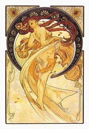 konfigurieren des Kunstdrucks in Wunschgröße Dance (Golden), 1898 von Mucha, Alphonse