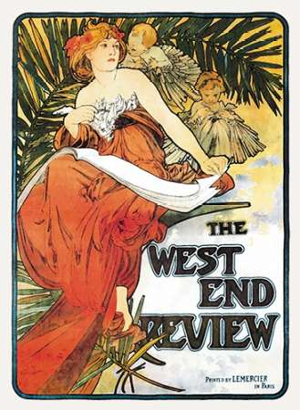 The West End Review, 1898 von Mucha, Alphonse <br> max. 33 x 46cm <br> Preis: ab 10€
