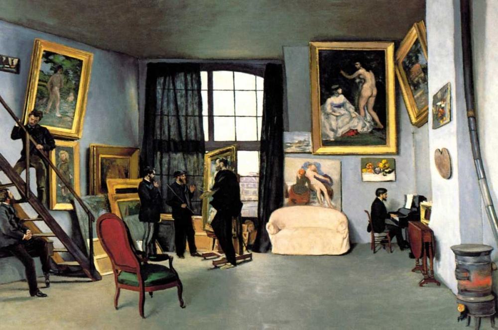 konfigurieren des Kunstdrucks in Wunschgröße Bazilles Studio: 9 rue de la Condamine, 1870 von Unknown