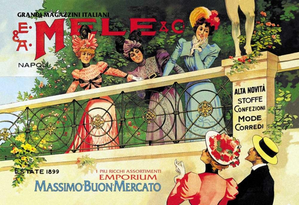 konfigurieren des Kunstdrucks in Wunschgröße The Great Italian Store and Emporium, E. A. Mele, 1898 von Villa, Aleardo