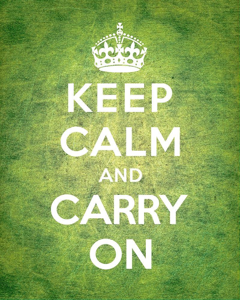 konfigurieren des Kunstdrucks in Wunschgröße Keep Calm and Carry On - Vintage Green von The British Ministry of Information