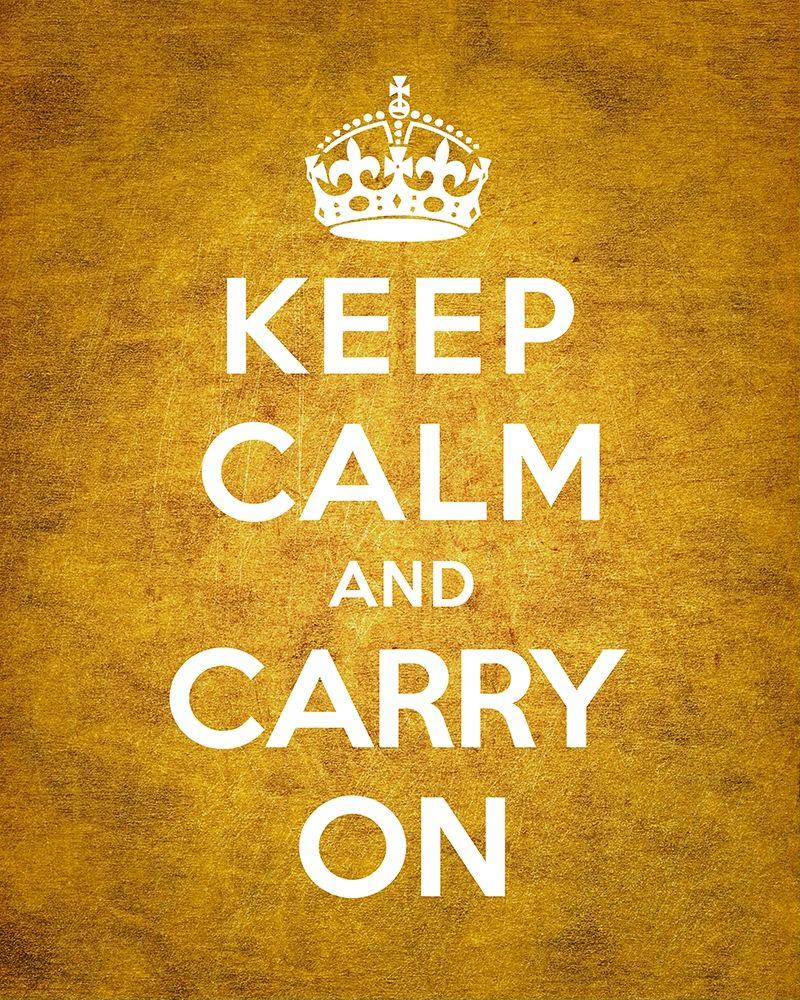 konfigurieren des Kunstdrucks in Wunschgröße Keep Calm and Carry On - Vintage Orange von The British Ministry of Information