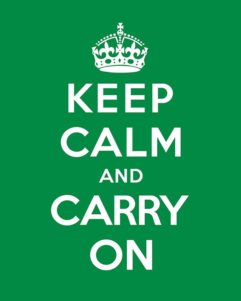 konfigurieren des Kunstdrucks in Wunschgröße Keep Calm and Carry On - Green von The British Ministry of Information