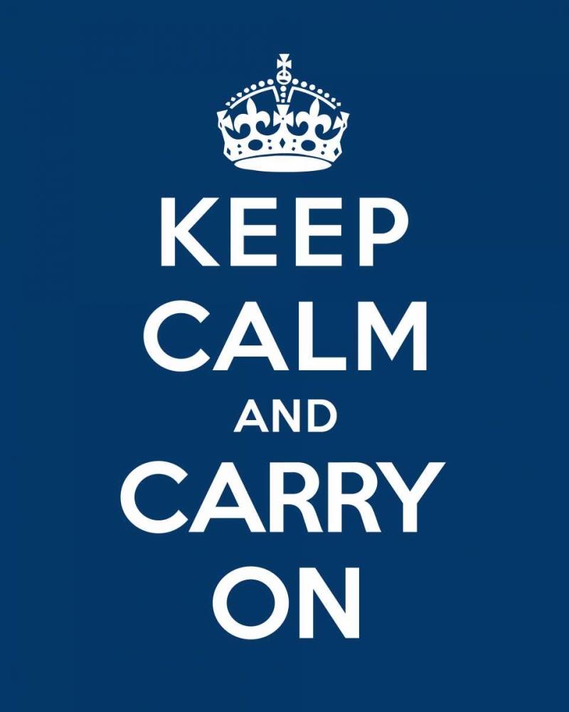 konfigurieren des Kunstdrucks in Wunschgröße Keep Calm and Carry On - Blue von The British Ministry of Information