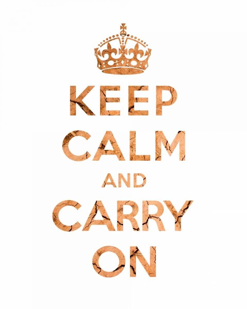 konfigurieren des Kunstdrucks in Wunschgröße Keep Calm and Carry On - Texture II von The British Ministry of Information