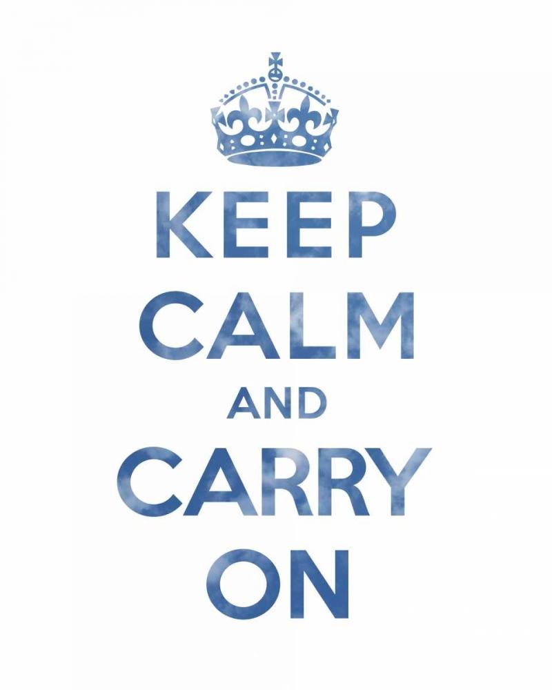 konfigurieren des Kunstdrucks in Wunschgröße Keep Calm and Carry On - Texture III von The British Ministry of Information