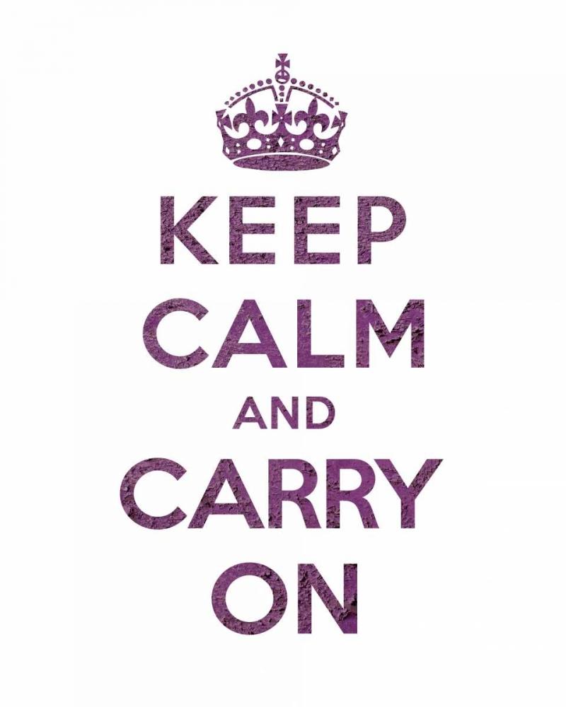 konfigurieren des Kunstdrucks in Wunschgröße Keep Calm and Carry On - Texture VI von The British Ministry of Information