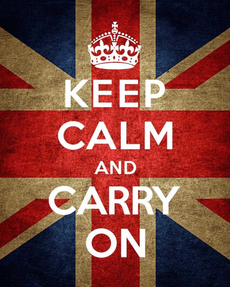 konfigurieren des Kunstdrucks in Wunschgröße Keep Calm and Carry On - Union Jack von The British Ministry of Information