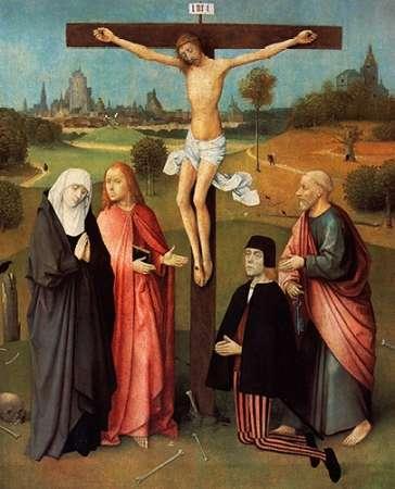konfigurieren des Kunstdrucks in Wunschgröße Calvary With Donor von Bosch, Hieronymus
