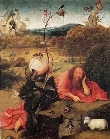 konfigurieren des Kunstdrucks in Wunschgröße St John The Baptist In The Wilderness von Bosch, Hieronymus