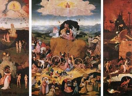 konfigurieren des Kunstdrucks in Wunschgröße The Haywain von Bosch, Hieronymus