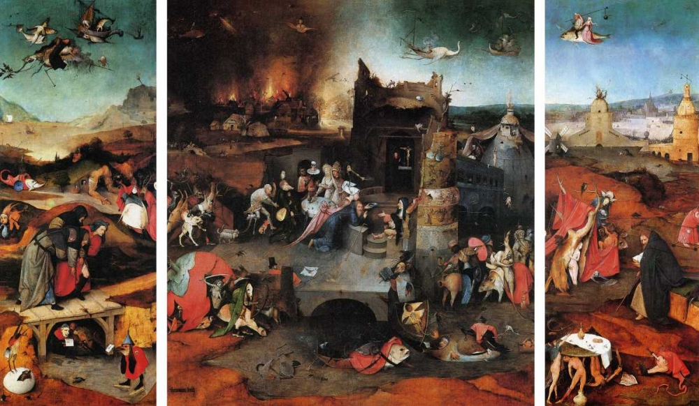 The Temptation Of St Anthony von Bosch, Hieronymus <br> max. 112 x 64cm <br> Preis: ab 10€