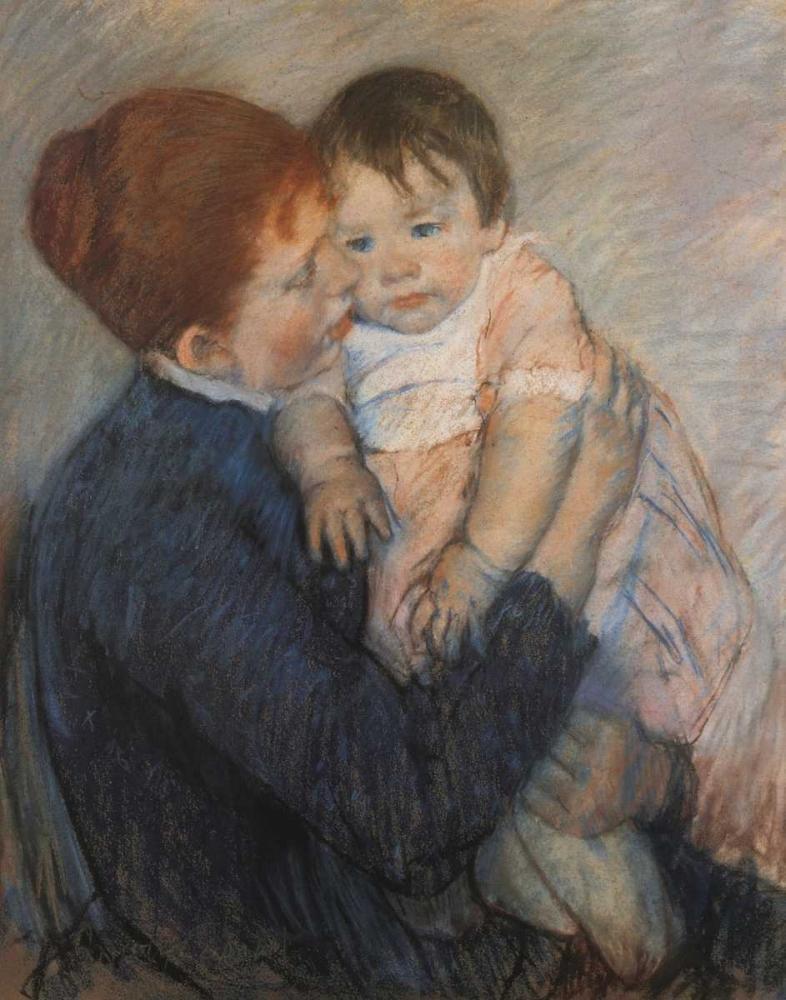 konfigurieren des Kunstdrucks in Wunschgröße Agatha And Her Child 1891 von Cassatt, Mary