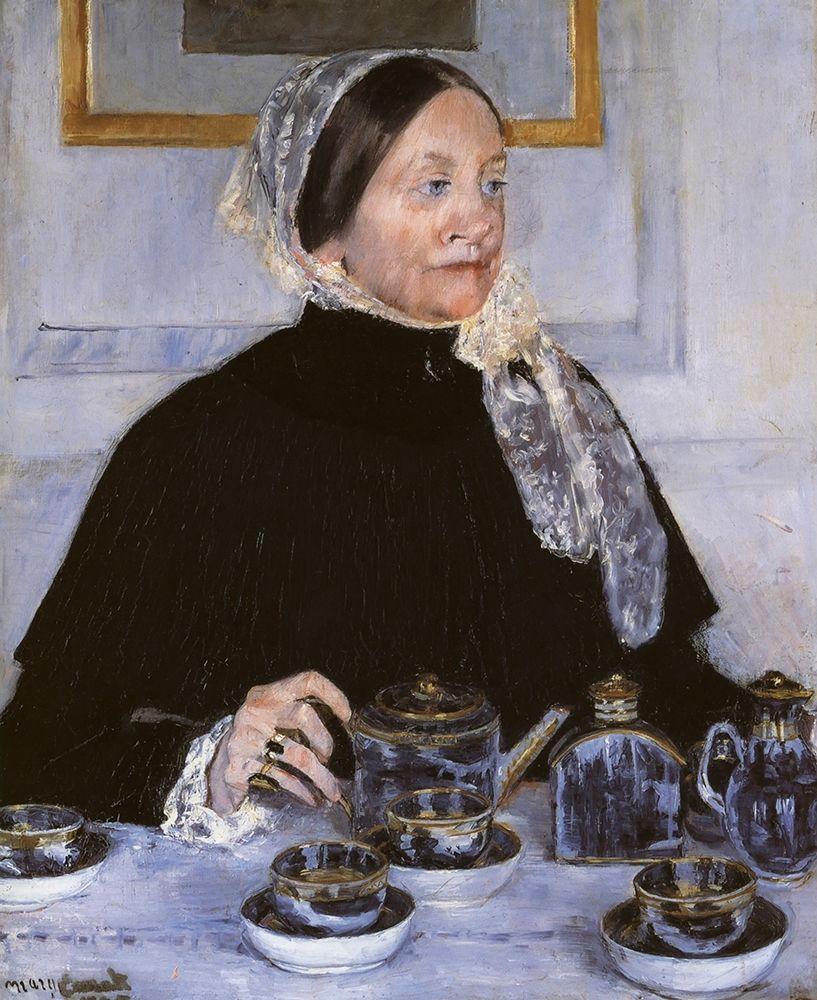 konfigurieren des Kunstdrucks in Wunschgröße Lady At The Tea Table 1883 von Cassatt, Mary