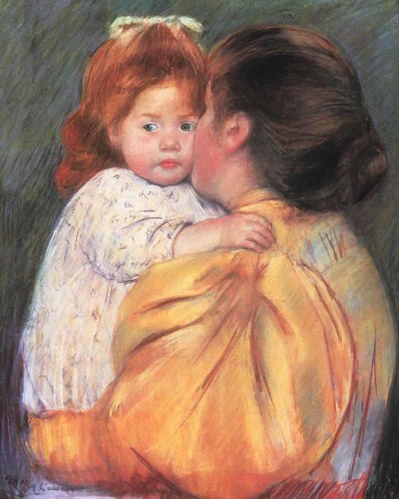konfigurieren des Kunstdrucks in Wunschgröße Maternal Kiss 1897 von Cassatt, Mary