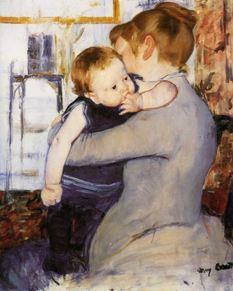 konfigurieren des Kunstdrucks in Wunschgröße Mother And Child 1889 von Cassatt, Mary