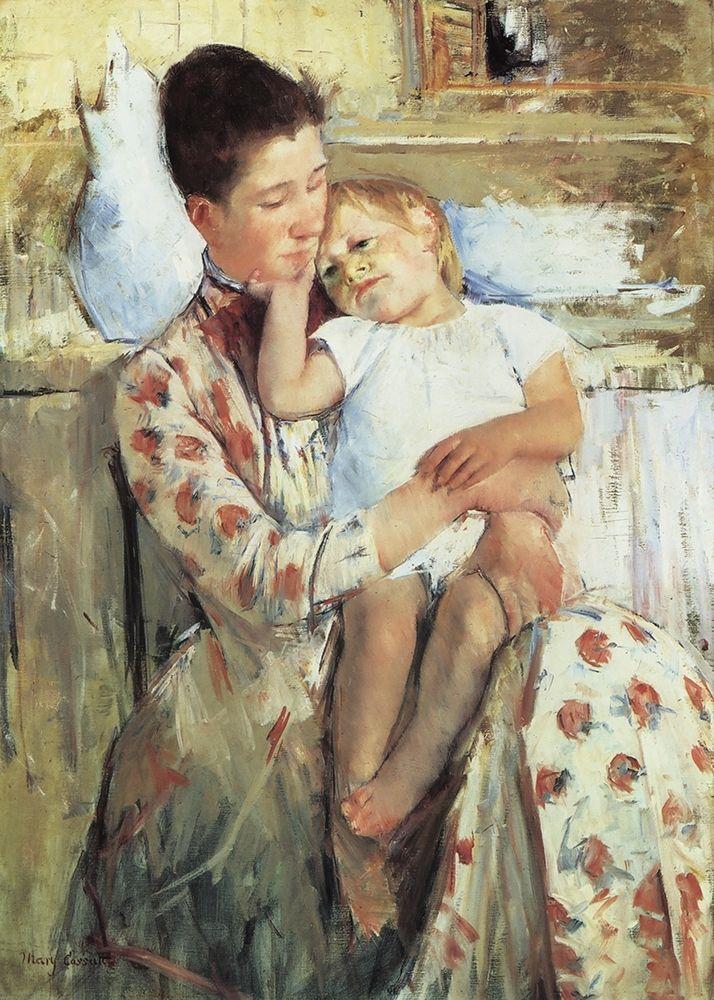 konfigurieren des Kunstdrucks in Wunschgröße Mother And Child 1890 von Cassatt, Mary