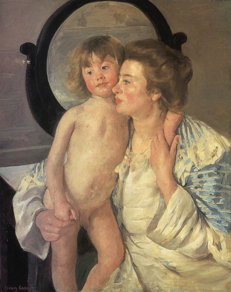 konfigurieren des Kunstdrucks in Wunschgröße Mother And Child 1899 von Cassatt, Mary