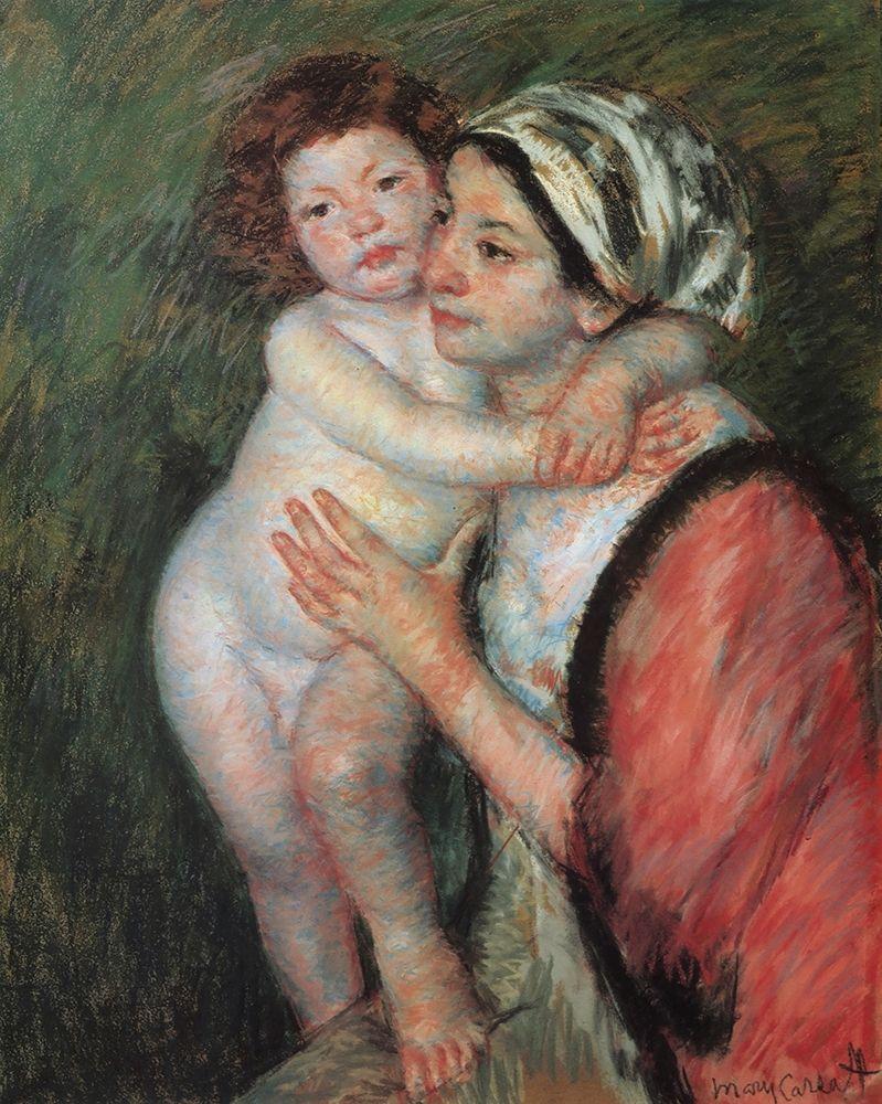 konfigurieren des Kunstdrucks in Wunschgröße Mother And Child 1914 von Cassatt, Mary