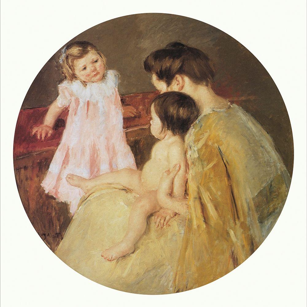 konfigurieren des Kunstdrucks in Wunschgröße Mother And Two Children Mural For Capitol Bldg PA 1905 von Cassatt, Mary