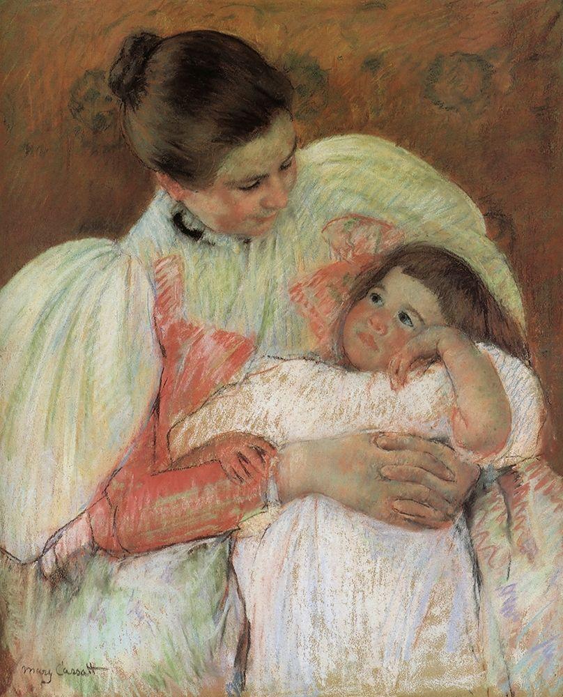 konfigurieren des Kunstdrucks in Wunschgröße Nurse And Child 1897 von Cassatt, Mary