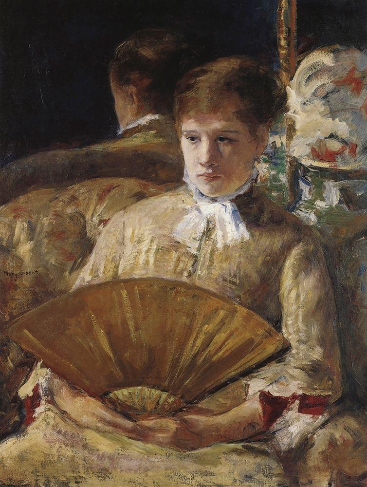 konfigurieren des Kunstdrucks in Wunschgröße Portrait Of A Lady 1877 von Cassatt, Mary