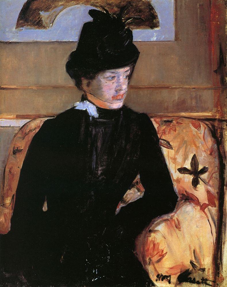 konfigurieren des Kunstdrucks in Wunschgröße Portrait Of A Young Woman In Black 1883 von Cassatt, Mary