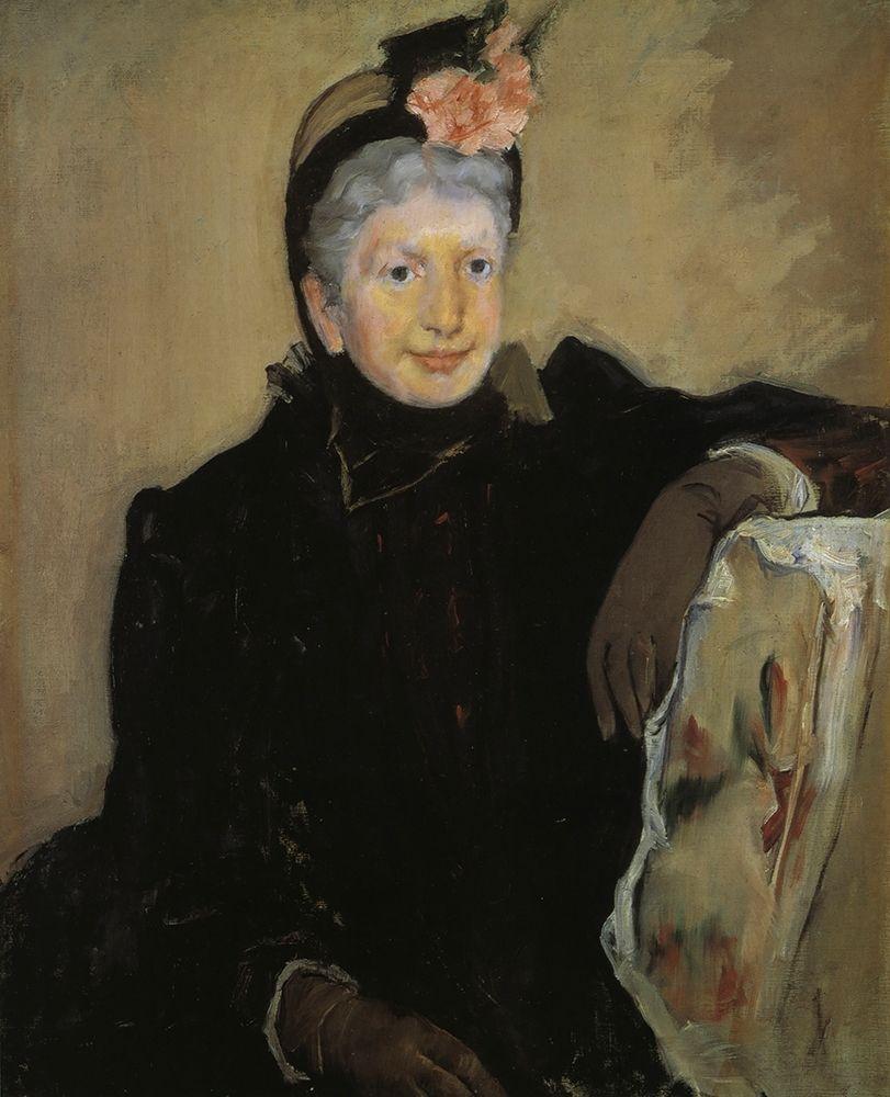 konfigurieren des Kunstdrucks in Wunschgröße Portrait Of An Elderly Lady 1883 von Cassatt, Mary