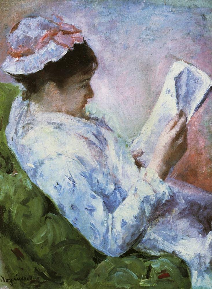 konfigurieren des Kunstdrucks in Wunschgröße Portrait Of Lydia Reading 1879 von Cassatt, Mary