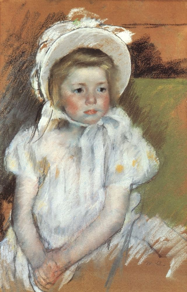 konfigurieren des Kunstdrucks in Wunschgröße Simone In A White Bonnet 1901 von Cassatt, Mary