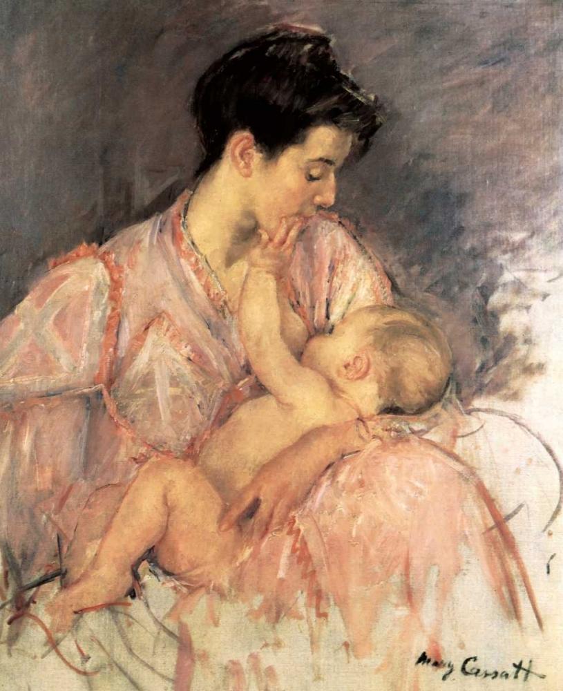 konfigurieren des Kunstdrucks in Wunschgröße Sketch For Mother Jeanne Nursing Her Baby 1906 von Cassatt, Mary
