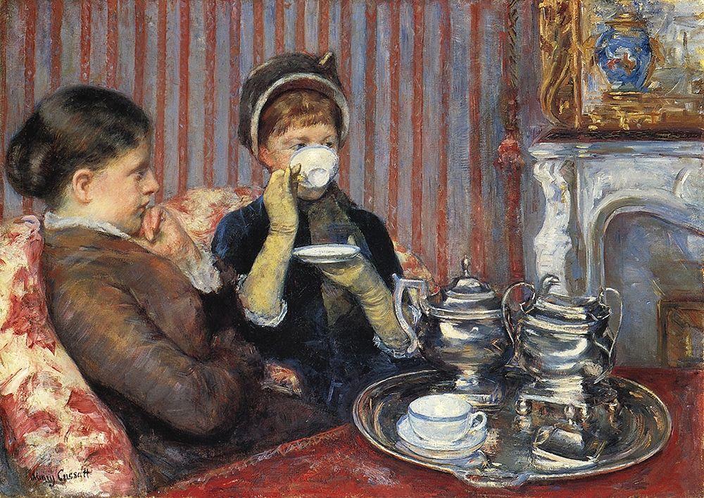 konfigurieren des Kunstdrucks in Wunschgröße The Tea, 1880 von Cassatt, Mary