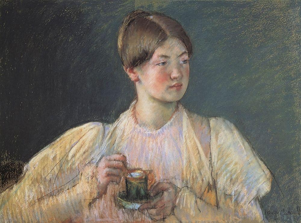 konfigurieren des Kunstdrucks in Wunschgröße The Cup Of Chocolate 1897 von Cassatt, Mary