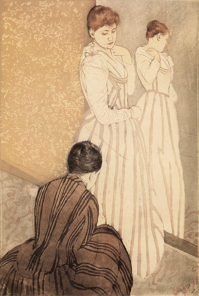 konfigurieren des Kunstdrucks in Wunschgröße The Fitting 1891 von Cassatt, Mary