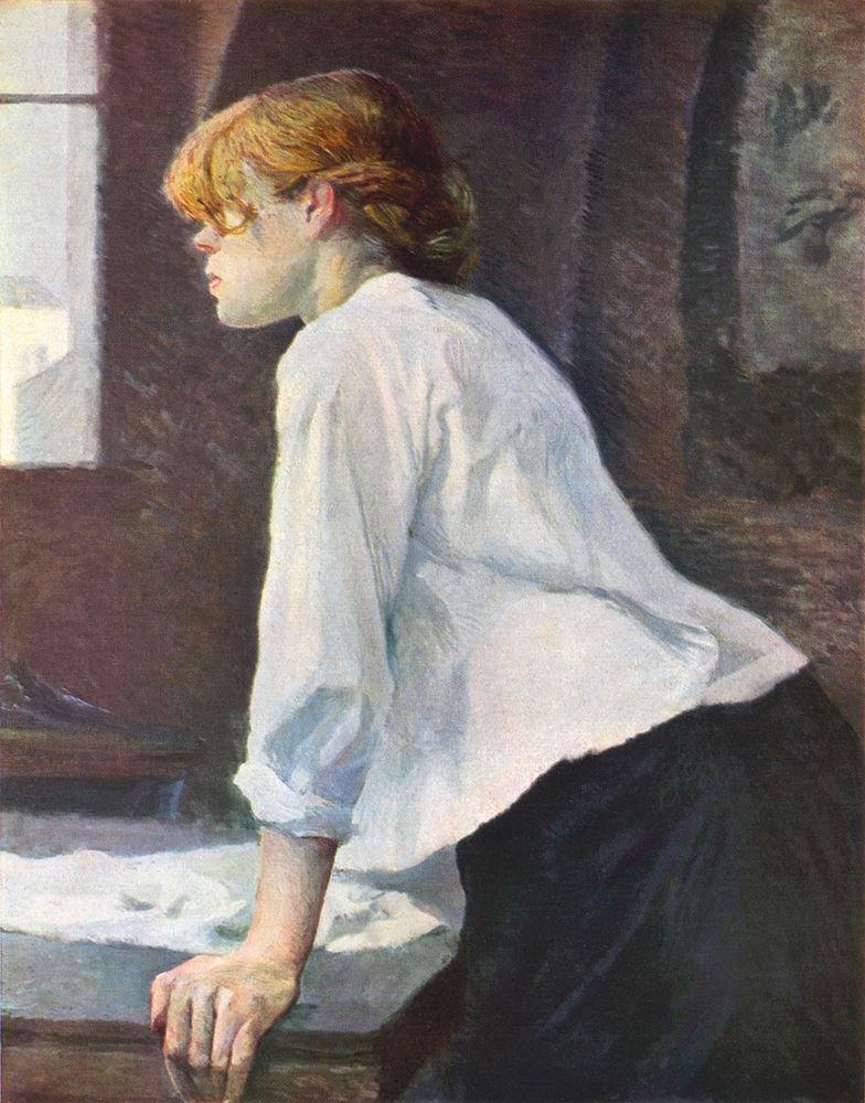 konfigurieren des Kunstdrucks in Wunschgröße The Laundress 1889 von Cassatt, Mary