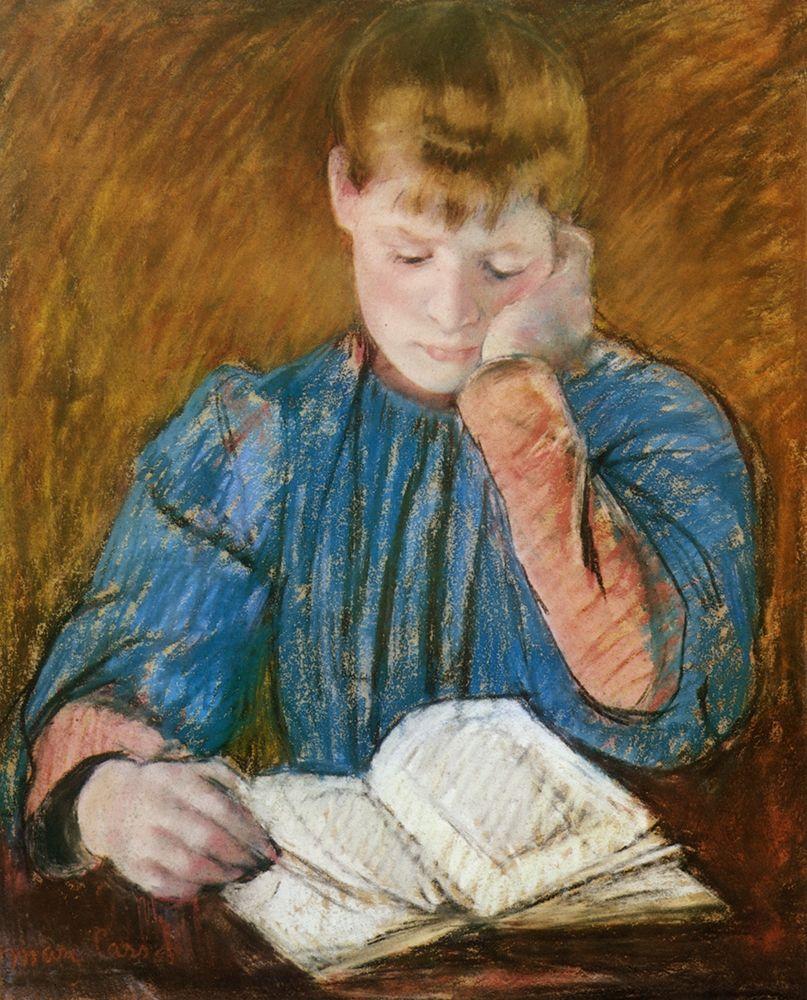 konfigurieren des Kunstdrucks in Wunschgröße The Pensive Reader 1894 von Cassatt, Mary