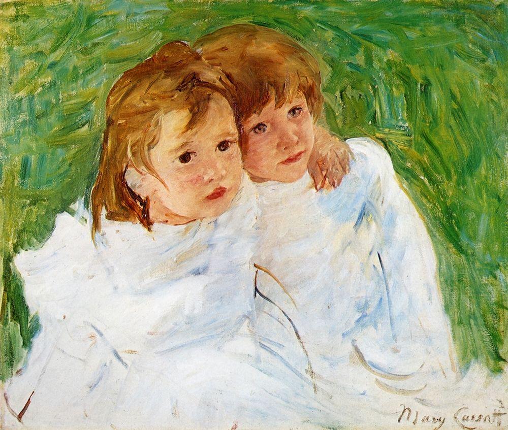 konfigurieren des Kunstdrucks in Wunschgröße The Sisters 1885 von Cassatt, Mary
