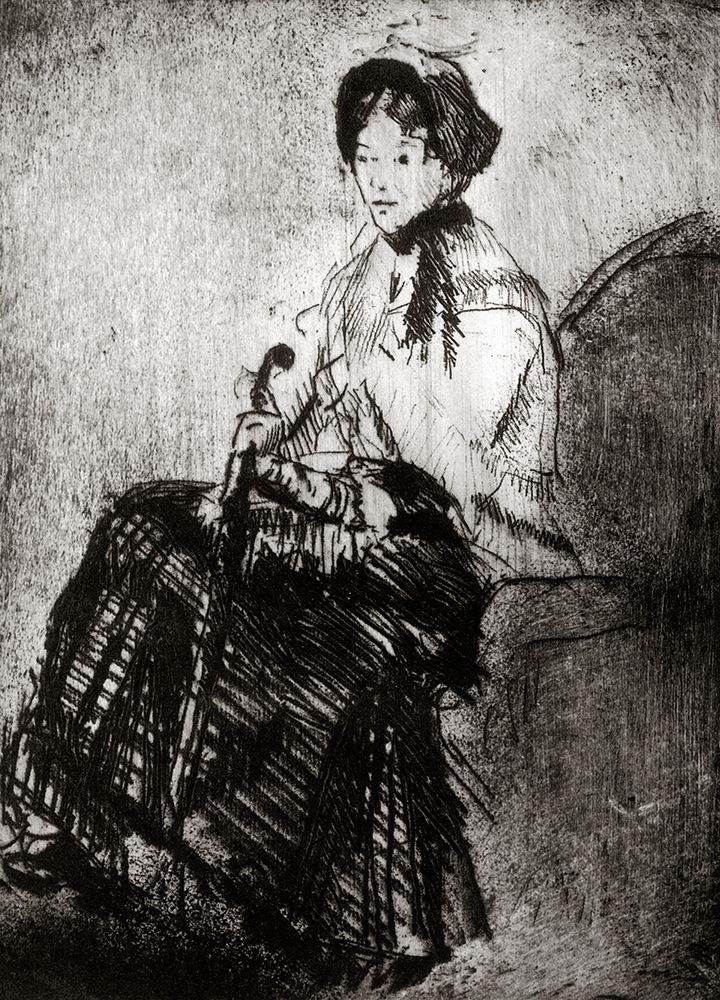 konfigurieren des Kunstdrucks in Wunschgröße The Umbrella 1879 von Cassatt, Mary