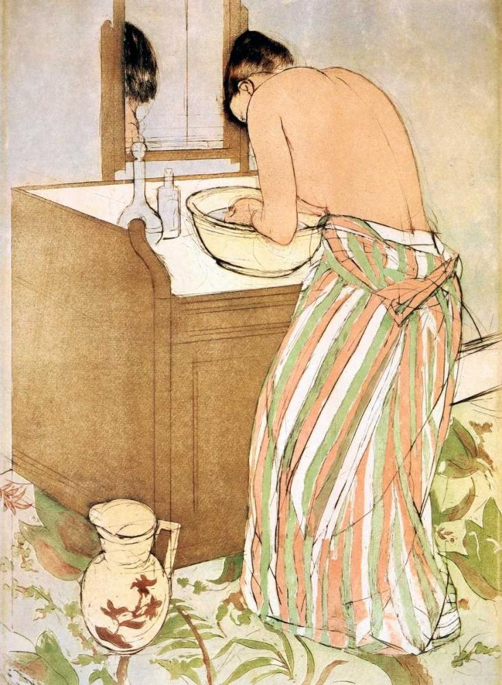 konfigurieren des Kunstdrucks in Wunschgröße Woman Bathing I 1891 von Cassatt, Mary
