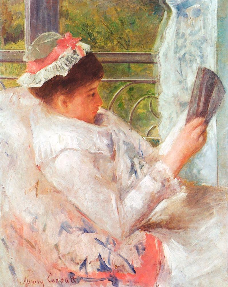 konfigurieren des Kunstdrucks in Wunschgröße Woman Reading-Lydia 1878 von Cassatt, Mary