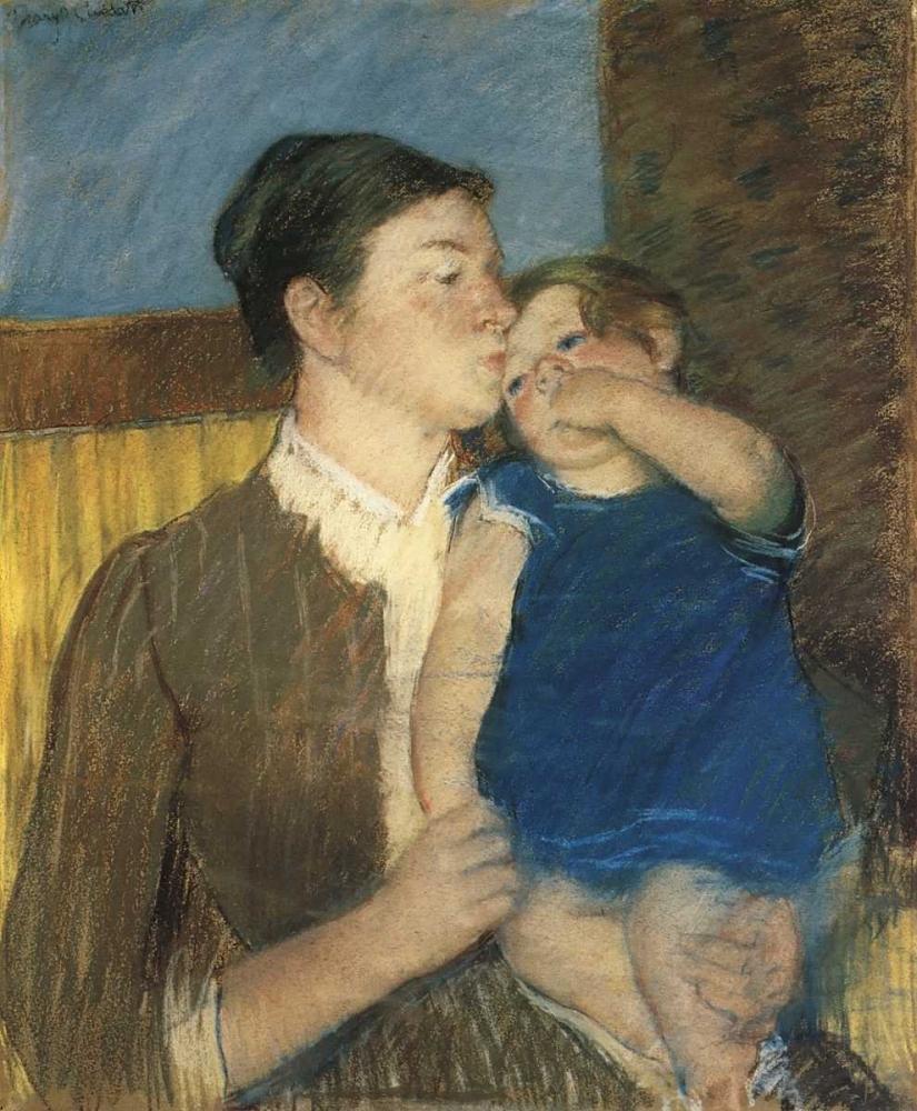 konfigurieren des Kunstdrucks in Wunschgröße Young Mother 1888 von Cassatt, Mary