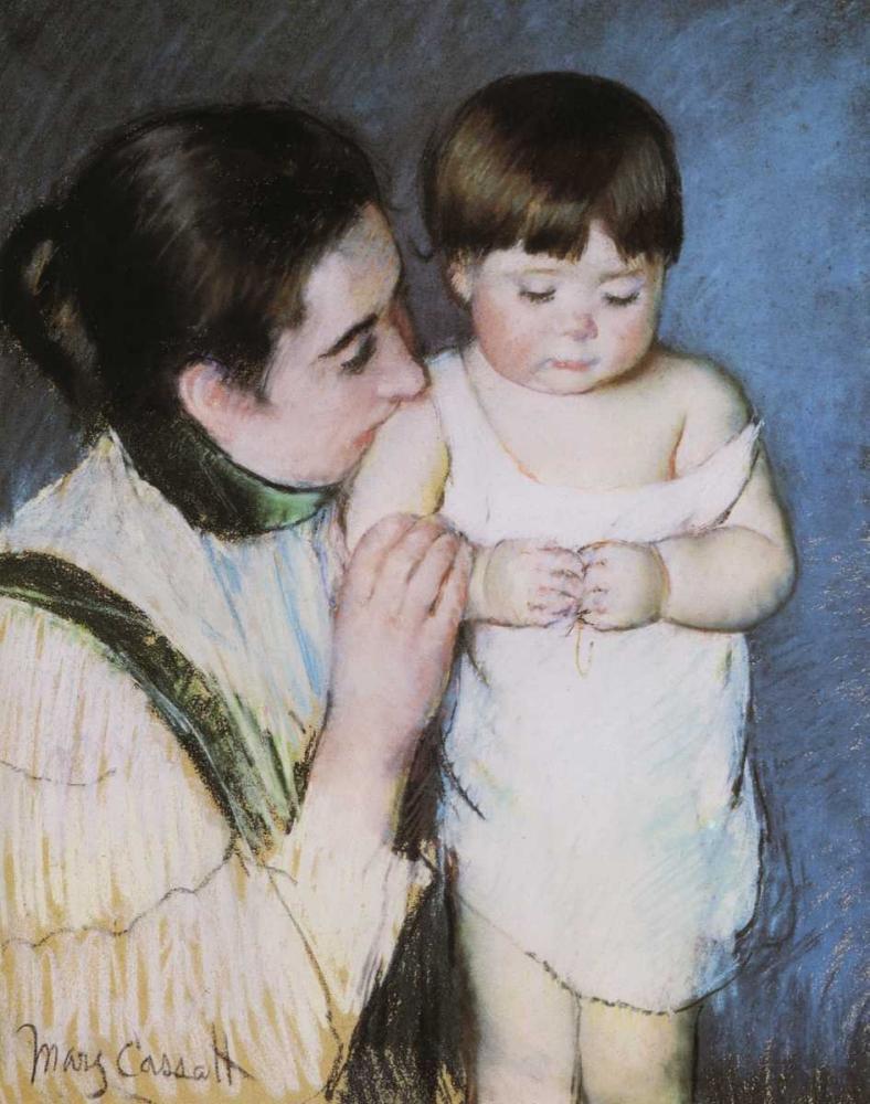 konfigurieren des Kunstdrucks in Wunschgröße Young Thomas And His Mother 1893 von Cassatt, Mary