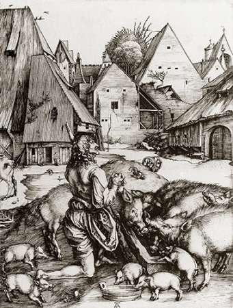 The Prodigal Son von Durer, Albrecht <br> max. 76 x 99cm <br> Preis: ab 10€