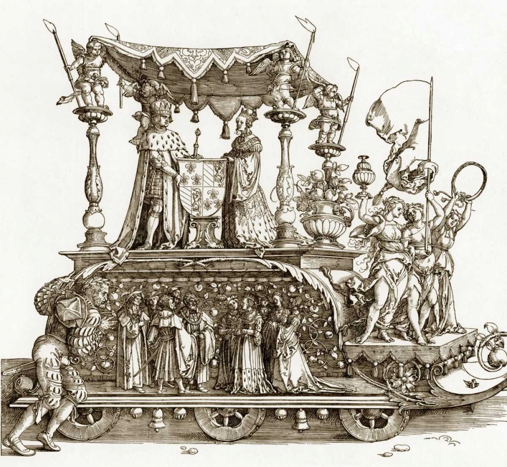 The Small Triumphal Car von Durer, Albrecht <br> max. 76 x 71cm <br> Preis: ab 10€